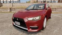 Mitsubishi Lancer Evolution X седан для GTA 4