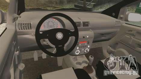 Volkswagen Fox для GTA 4 вид сзади