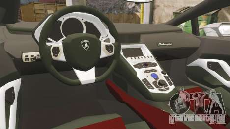 Lamborghini Huracan Hungarian Police [Non-ELS] для GTA 4 вид изнутри