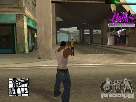 New HUD Ballas Style для GTA San Andreas третий скриншот