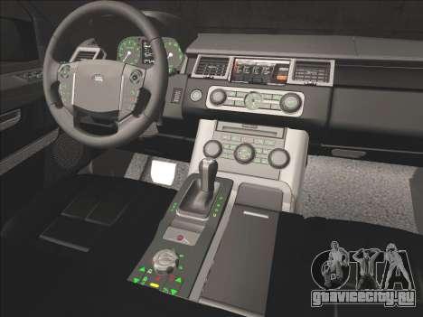 Range Rover Sport для GTA San Andreas вид снизу