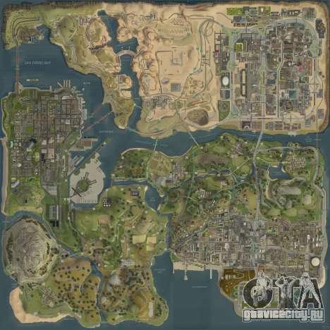 Новая карта в HD для GTA San Andreas