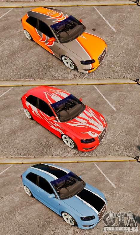 Audi S3 EmreAKIN Edition для GTA 4 вид сбоку