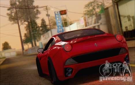 Ferrari California v2 для GTA San Andreas вид слева