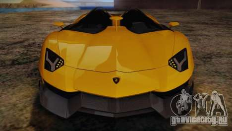 Lamborghini Aventandor J 2010 для GTA San Andreas вид снизу