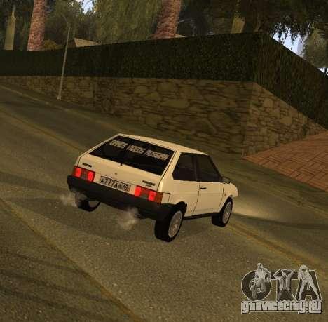 ВАЗ 2108 GVR Version 1.2 для GTA San Andreas вид слева