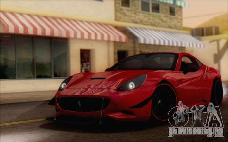 Ferrari California v2 для GTA San Andreas