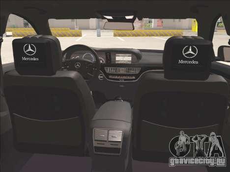 Mercedes-Benz S65 AMG 2012 для GTA San Andreas вид сбоку