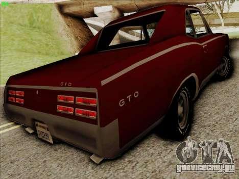 Pontiac GTO 1967 для GTA San Andreas вид справа