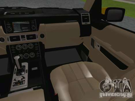 Range Rover Supercharged Series III для GTA San Andreas салон