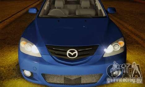 Mazda Axela Sport 2005 для GTA San Andreas вид сзади