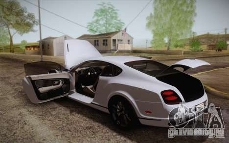 Bentley Continental SuperSports 2010 v2 Finale для GTA San Andreas двигатель