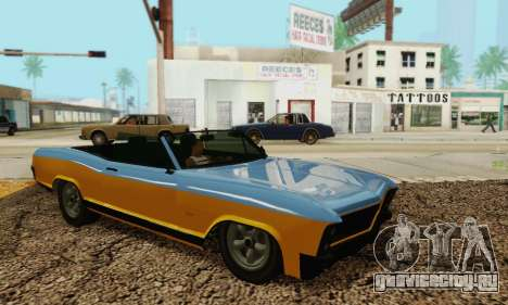 Gta 5 Buccaneer обновленная для GTA San Andreas вид изнутри
