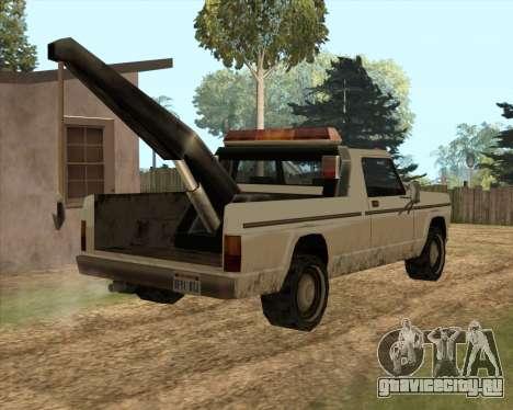 Новый Эвакуатор (Sadler) для GTA San Andreas вид сзади слева
