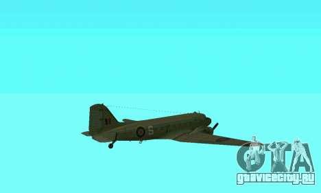 C-47 Дакота RAF для GTA San Andreas вид сверху