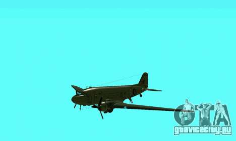 C-47 Дакота RAF для GTA San Andreas вид изнутри