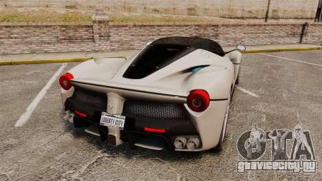 Ferrari LaFerrari для GTA 4 вид сзади слева