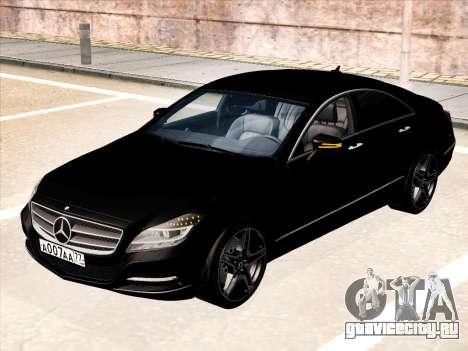 Mercedes-Benz CLS350 2012 для GTA San Andreas вид сзади слева