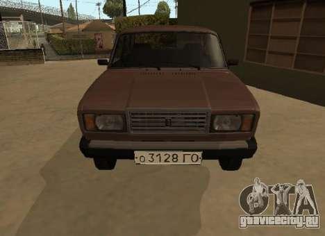 ВАЗ 2107 Ранняя версия для GTA San Andreas вид слева