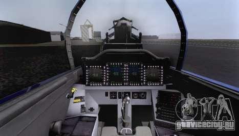 F-15S для GTA San Andreas вид снизу