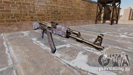 Автомат АК-47 Blue Camo для GTA 4