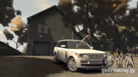 Range Rover Vogue 2014 для GTA 4 вид сзади