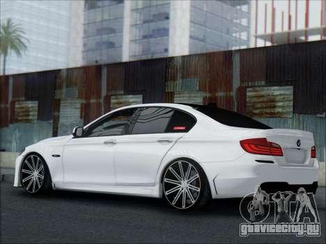 BMW 550 F10 VOSSEN для GTA San Andreas вид сверху