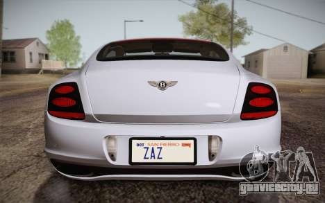 Bentley Continental SuperSports 2010 v2 Finale для GTA San Andreas вид сверху