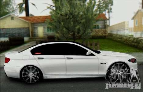 BMW 550 F10 VOSSEN для GTA San Andreas вид изнутри