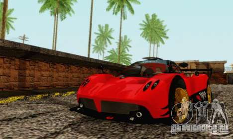 Pagani Zonda Type R Red для GTA San Andreas вид слева