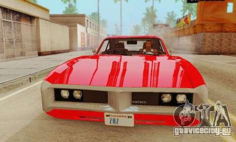 GTA 4 Imponte Dukes V1.0 для GTA San Andreas вид сзади слева
