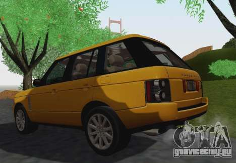 Range Rover Supercharged Series III для GTA San Andreas вид сбоку