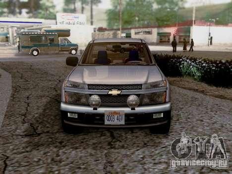 Chevrolet Colorado для GTA San Andreas вид сзади слева