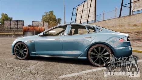 Tesla Model S для GTA 4 вид слева
