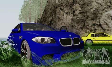 BMW F10 M5 2012 Stock для GTA San Andreas вид сбоку