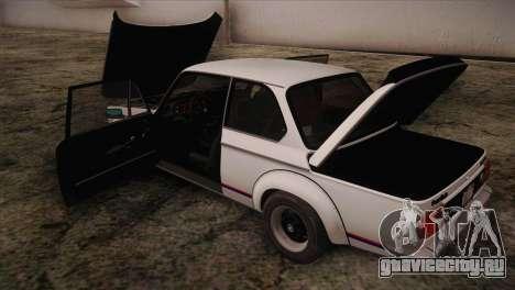 BMW 2002 1973 для GTA San Andreas вид сбоку