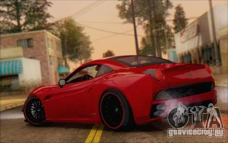 Ferrari California v2 для GTA San Andreas вид сзади слева