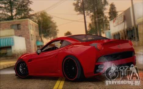 Ferrari California v2 для GTA San Andreas вид сзади слева