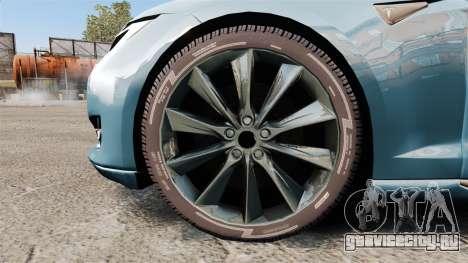Tesla Model S для GTA 4 вид сзади