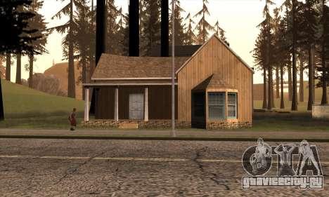 Новый дом Сиджея в Angel Pine для GTA San Andreas второй скриншот