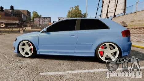 Audi S3 EmreAKIN Edition для GTA 4 вид слева