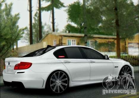 BMW 550 F10 VOSSEN для GTA San Andreas вид сзади слева