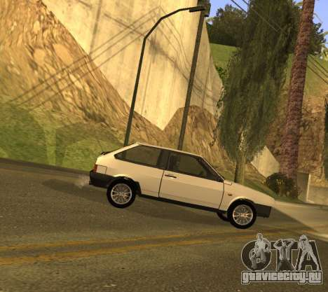 ВАЗ 2108 GVR Version 1.2 для GTA San Andreas вид сзади слева