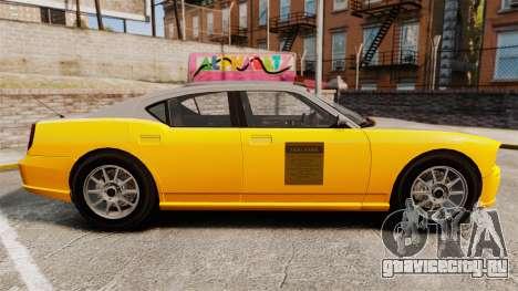 Bravado Buffalo Taxi для GTA 4 вид слева