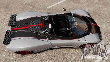 Pagani Zonda C12 S Roadster 2001 PJ5 для GTA 4 вид справа