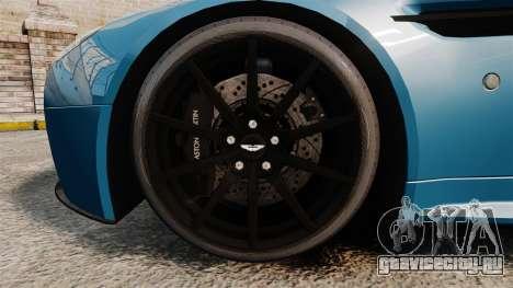 Aston Martin V12 Vantage S 2013 [Updated] для GTA 4 вид сзади