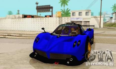 Pagani Zonda Type R Blue для GTA San Andreas вид сзади