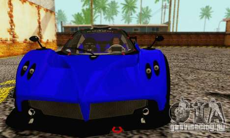 Pagani Zonda Type R Blue для GTA San Andreas вид слева