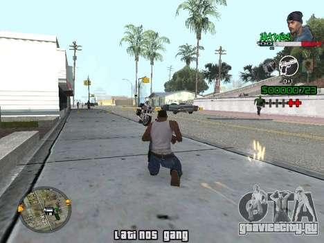 C-HUD Latinos by K.D для GTA San Andreas второй скриншот