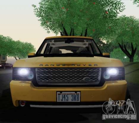 Range Rover Supercharged Series III для GTA San Andreas вид сзади